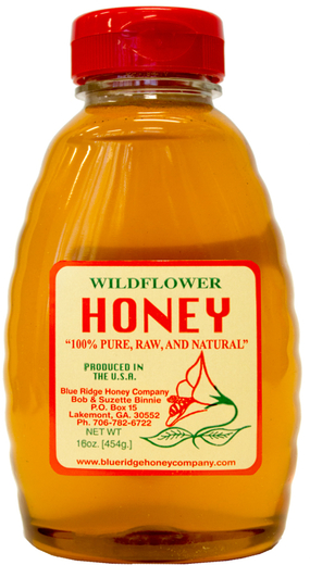 Honey 100% Wildflower Raw 1 lb Bottle