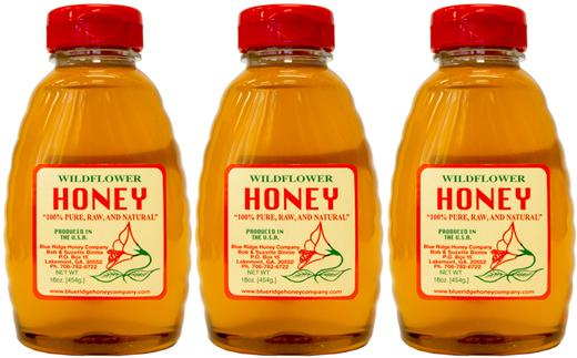 Miel natural 100% de milflores 1 lb (454 g) Botellas/Frascos