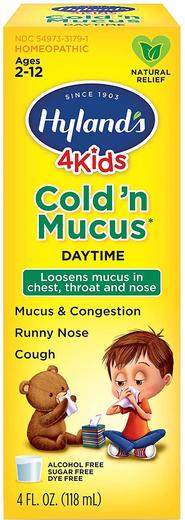 4Kids Cold n Mucus Syrop wykrztuśny 4 fl oz (118 mL) Butelka