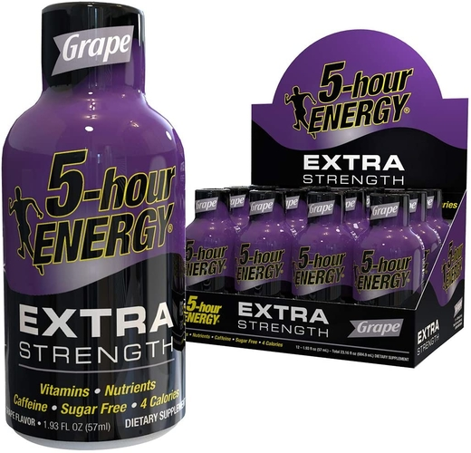 5 godzin dodatkowej energii i siły (winogrono) 1.93 fl oz (12 Pack) Butelki