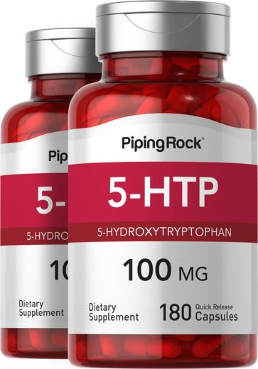 5-HTP 100 mg, 180 Capsules x 2 Bottles