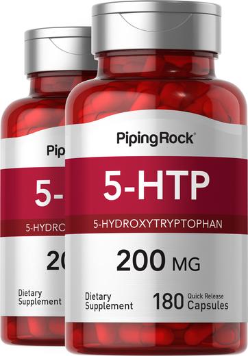 5-HTP 200 mg, 180 Capsules x 2 Bottles