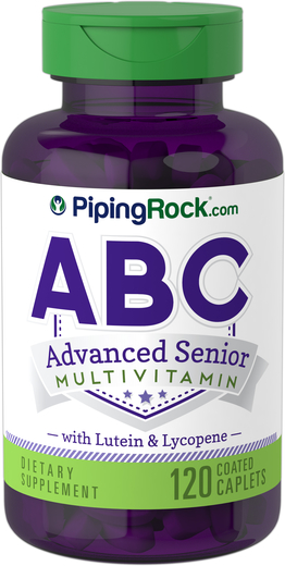 Buy ABC Advanced Senior with Lutein & Lycopene Supplement 120 Coated Caplets