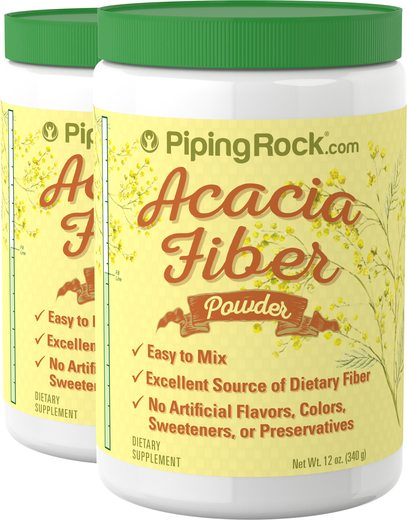 Acacia Fiber Powder Supplement 2 Bottles x 12 oz (340 g)