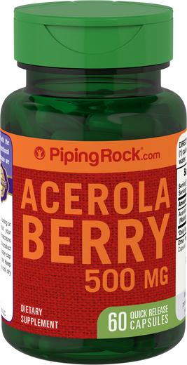 Acerola Berry 500 mg Vitamin C Supplement