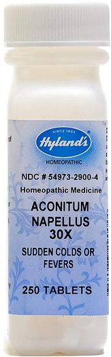 Aconitum Napellus 30X Homeopathic Colds & Fever 250 Tablets