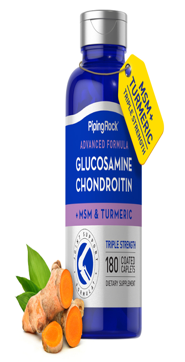 Glucosamine Chondroitin MSM Triple Strength plus Turmeric 180 Coated Caplets
