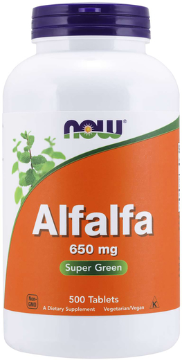 Alfalfa, 650 mg, 500 Tablets