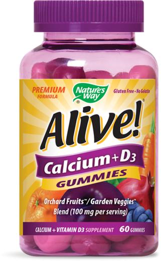 Gomme da masticare Alive! Calcium + D3 60 Caramelle gommose