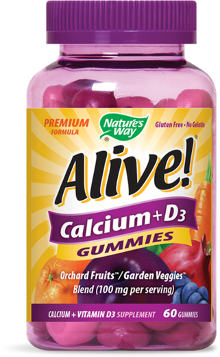 Żywe! Wapń + żelki z witaminą D3 60 Żelki