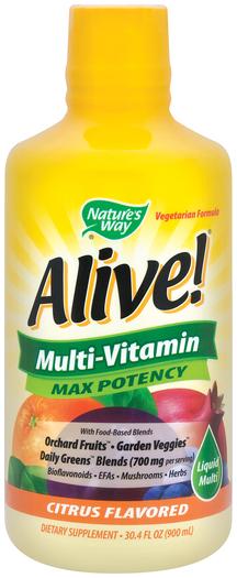 Alive! Multiwitamina w płynie (cytrus) 30.4 fl oz (900 mL) Butelka