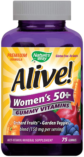 Alive! Women's 50+ Gummy Vitamins, 75 Gummies