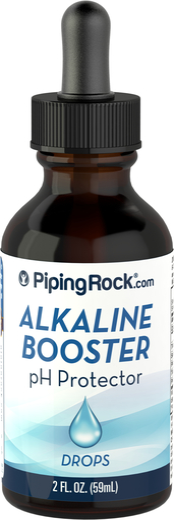 Gotas de proteção de incremento alcalino de pH, 2 fl oz (59 mL) Frasco conta-gotas