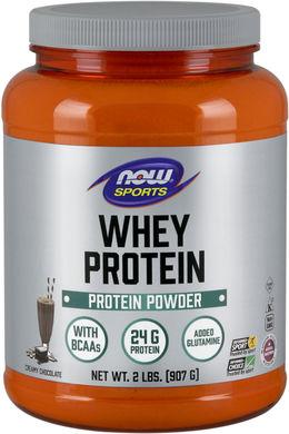 Proteína de soro de leite totalmente natural (chocolate) 2 lbs (907 g) Frasco