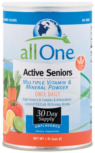 All One Active Seniors Multiple Vitamin & Mineral Powder, 1 lb (445 g)