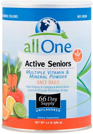 Multiwitaminy i minerały w proszku dla aktywnych seniorów 2.2 lb (980 g) Butelka