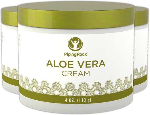 Creme hidratante de Aloe Vera, 4 oz (113 g) Boião, 3  Jarras
