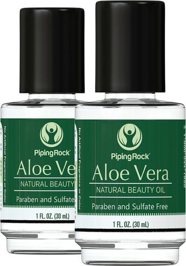 Aloe Vera Oil Pure Beauty Oil 2 Bottles x 1 fl oz (30 mL)
