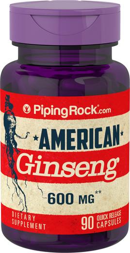 American Ginseng 600 mg 90 Capsules