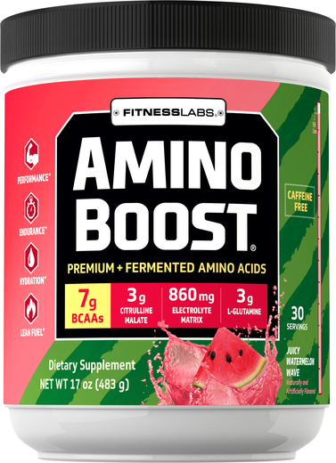 Amino Boost BCAA Powder (Juicy Watermelon Wave), 17 oz (483 g)