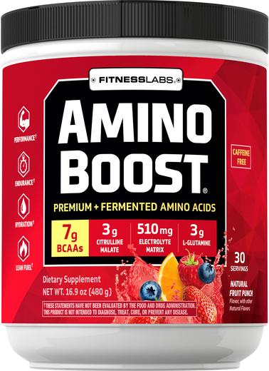 Amino Boost BCAA w proszku (naturalny, owocowy) 16.9 oz (480 g) Butelka
