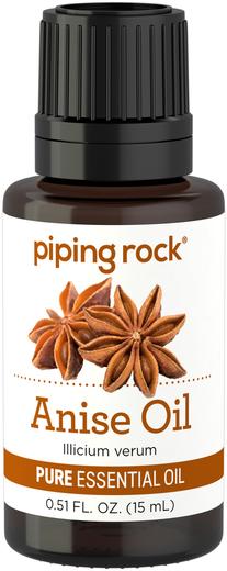 100% Pure Anise Essential Oil 1/2 oz (15 ml) Dropper Bottle
