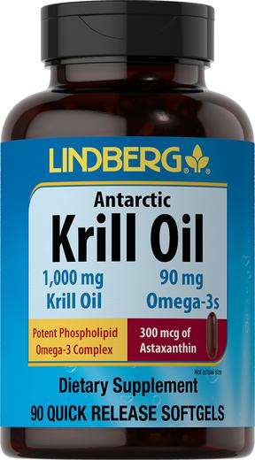 Antarctic Krill Oil, 1000 mg, 90 Quick Release Softgels