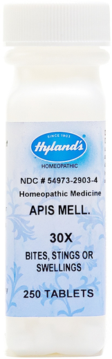 Apis Mellifica 30X Homeopathic for Bites & Stings 250 Tablets