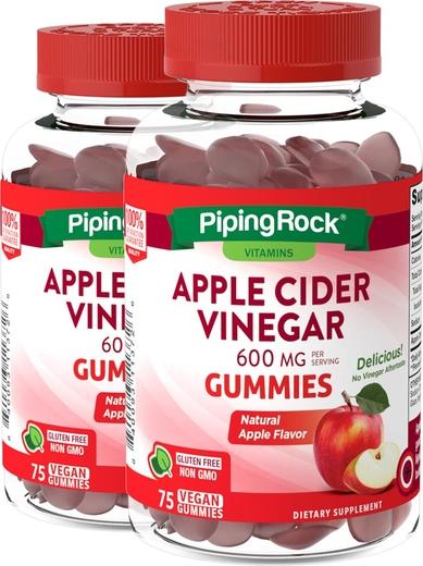 Apple Cider Vinegar Gummies (Natural Apple), 75 Gummies x 2 Bottles