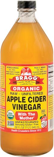 Ocet organiczny z cydru jabłkowego z matką 32 fl oz (946 mL) Butelka