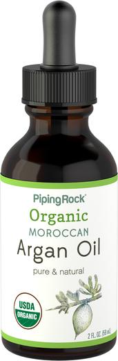 Organic Moroccan Argan Oil (Organic), 2 fl oz (59 mL) Dropper Bottle