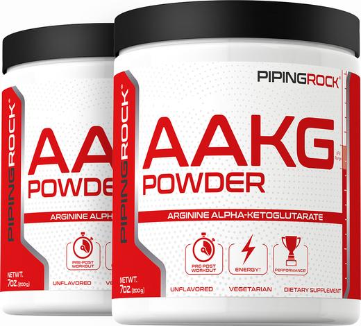 Arginine AAKG Pure Powder 2 Bottles x 7 oz (200 grams)