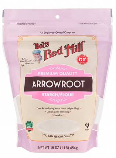 Arrowroot Starch Flour 16 oz (454 g) Arrowroot Baking Powder