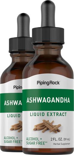Extrait liguide d'Ashwagandha 2 fl oz (59 mL) Compte-gouttes en verre