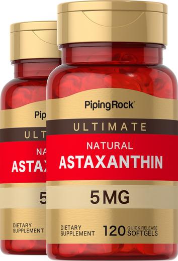 Astaxanthin 5 mg 2 Bottles x 120 Softgels