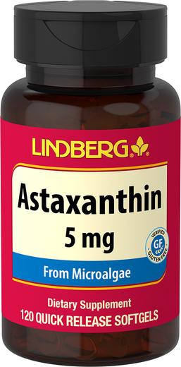 Astaxanthin 5 mg, 120 Softgels