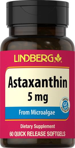 Astaxanthin 5 mg, 60 Softgels