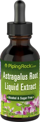 Extrato líquido de raiz de astragalus sem álcool, 2 fl oz (59 mL) Frasco conta-gotas