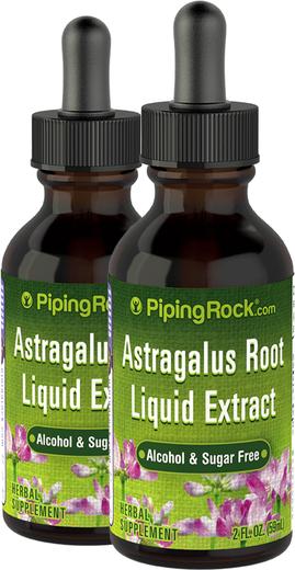 Extrato líquido de raiz de astragalus sem álcool 2 fl oz (59 mL) Frasco conta-gotas