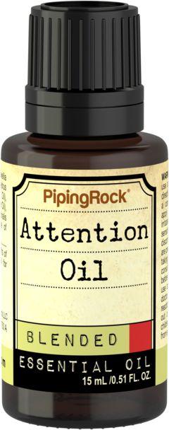 Huile essentielle favorisant l'attention 1/2 fl oz (15 mL) Compte-gouttes en verre