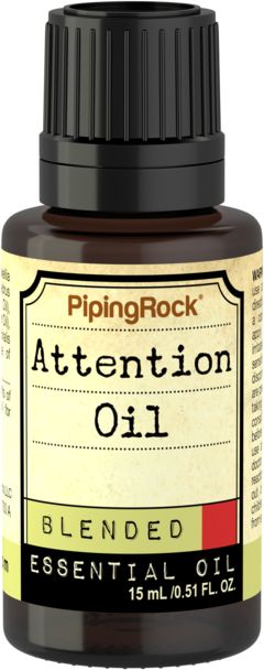 Essential Oil For Attention 1/2 oz (15 ml) Dropper Bottle