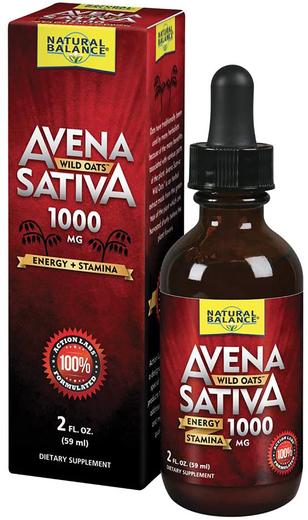 Tekući ekstrakt divlje zobi Avena Sativa 1000 mg 2 fl oz (59 mL) Bočica s kapaljkom