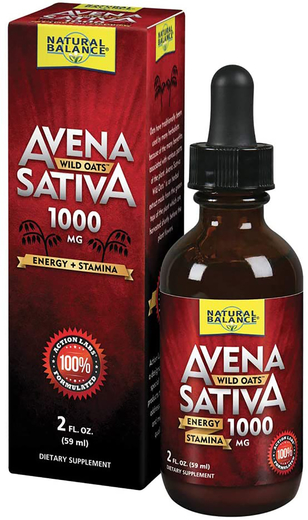 Płynny ekstrakt z owsa zwyczajnego Wild Oats 1000 mg 2 fl oz (59 mL) Butelka z zakraplaczem