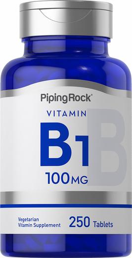 B-1 (Thiamin), 100 mg, 250 Tablets