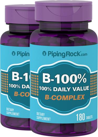 Zestaw witamin z grupy B B-100 180 Tabletki