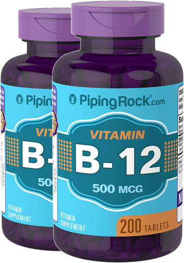 Vitamin B-12  500mcg  2 Bottles x 200 Tables
