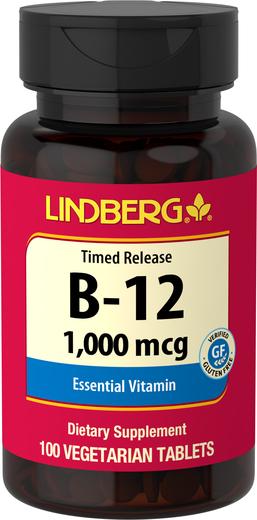 Witamina B-12 uwalniana w czasie 100 Tabletki wegetariańskie