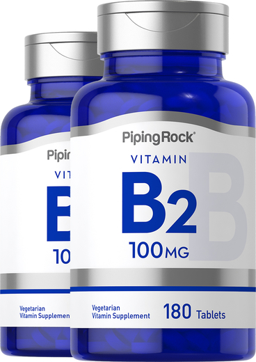 B-2 100 mg (Riboflavin)  2 Bottles x 180 Tablets