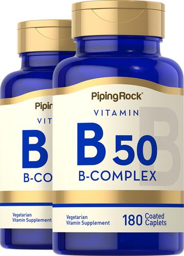 Zestaw witamin z grupy B B-50 180 Powlekane kapsułki