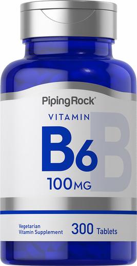 B-6 (Pyridoxine), 100 mg, 300 Tablets